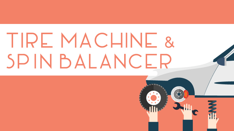 Tire Machine & Spin Balancer