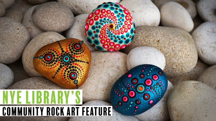 Nye Library's Community Rock Art Feature