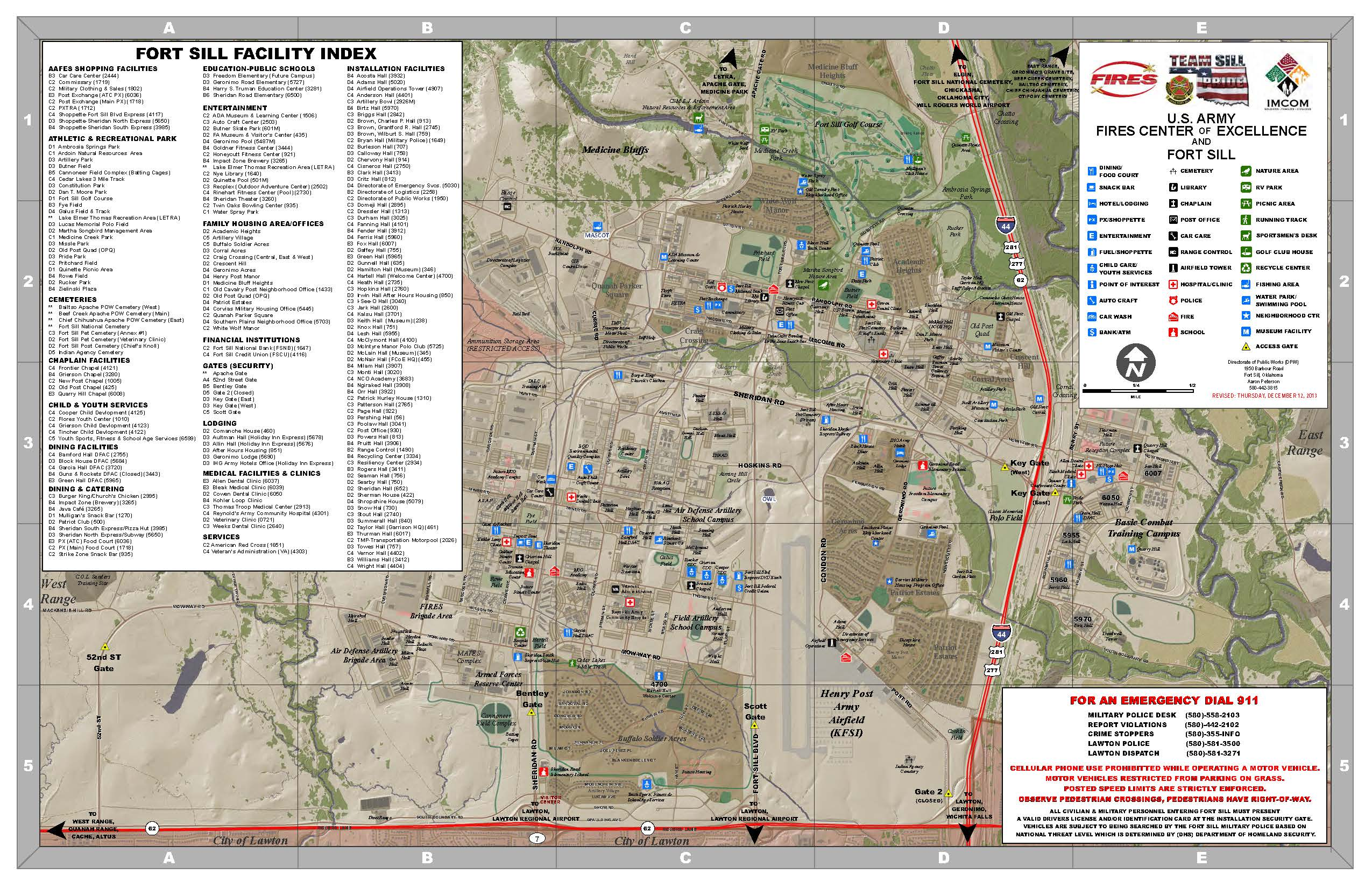 Fort Sill Map